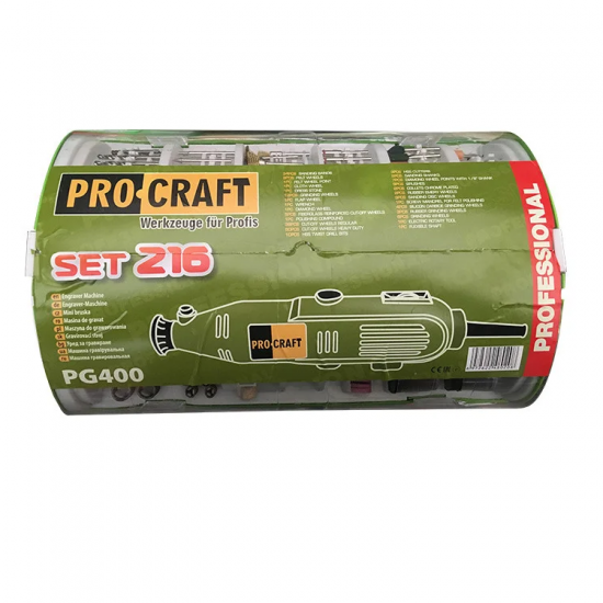 Гравер ProCraft PG-400 Set 216