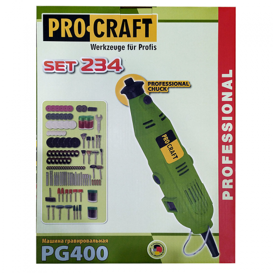 Гравер ProCraft PG-400 Set 234