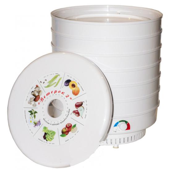 Сушилка для овощей и фруктов Ветерок 2 ЭСОФ-0,6/220 (6 решеток)